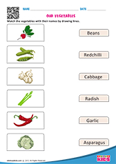 Match Vegetables